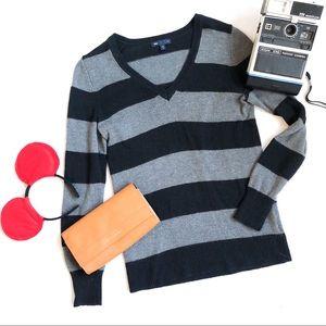 GAP Lux Rabbit Angora Blend Striped Sweater